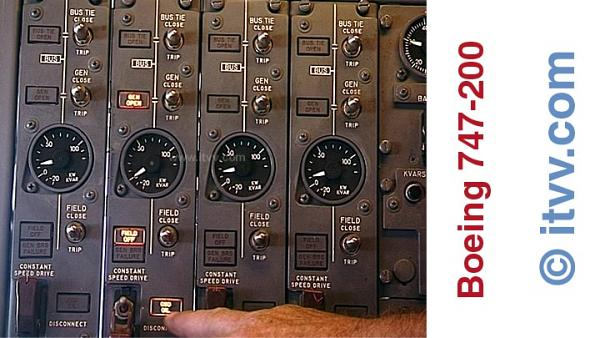 ITVV B747-200 Classic Flight Engineers Electrical Panel