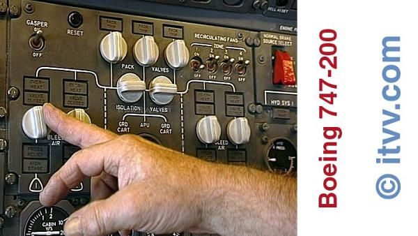 ITVV B747-200 Engineers Packs Controls