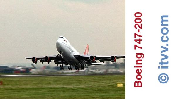 ITVV Boeing 747-200 Classic Take-Off London Heathrow Airport