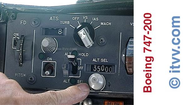 ITVV Boeing 747-200 Jumbo Jet MCP Altitude Selector