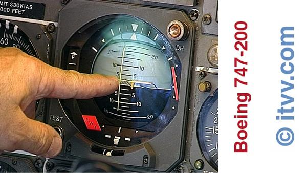 ITVV Boeing 747-200 Analogue Attitude Director Indicator ADI