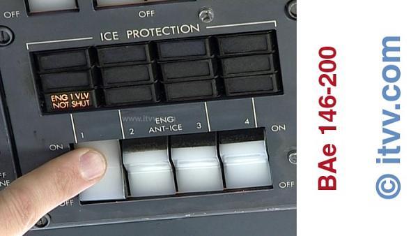 ITVV BAe 146-200 Engine Anti Ice Control Panel