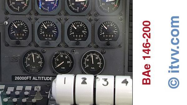 ITVV BAe 146-200 Engine Fuel Flow Displays