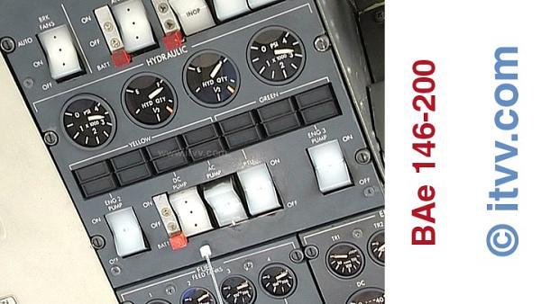 ITVV BAe 146-200 Hydraulic Panel