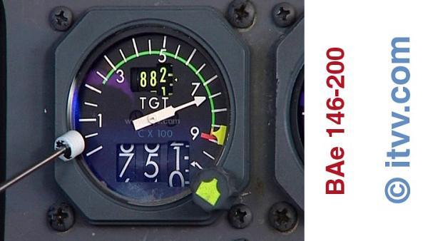 ITVV BAe 146-200 TGT Engine Gauge