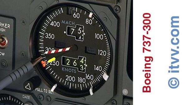 ITVV B737-300 Flightdeck Air Speed Indicator ASI