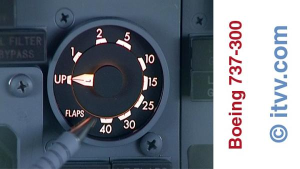 ITVV B737-300 Flightdeck Flap Indicator