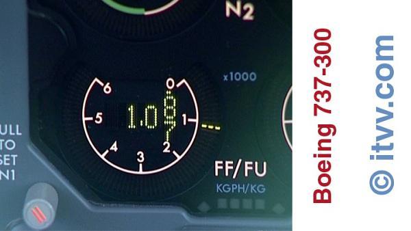 ITVV Boeing 737-300 Flight Deck Fuel Flow Meter FF