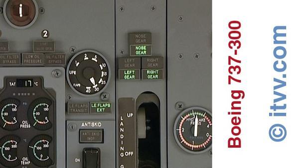 ITVV B737-300 Flight Deck Landing Flap
