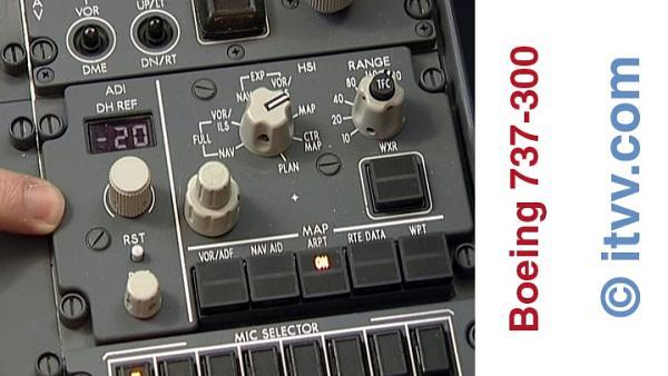 ITVV B737-300 Flight Deck ADI/DH Control Panel