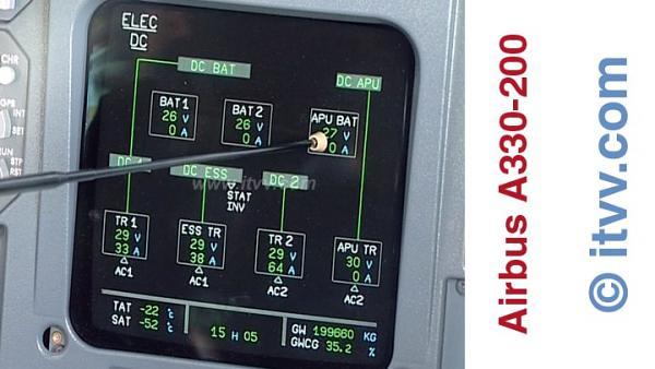 ITVV Airbus A330-200 DC Elec Top ECAM