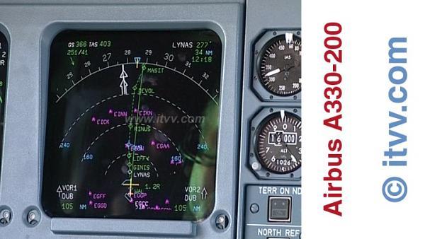 ITVV Airbus A330-200 NAV Display