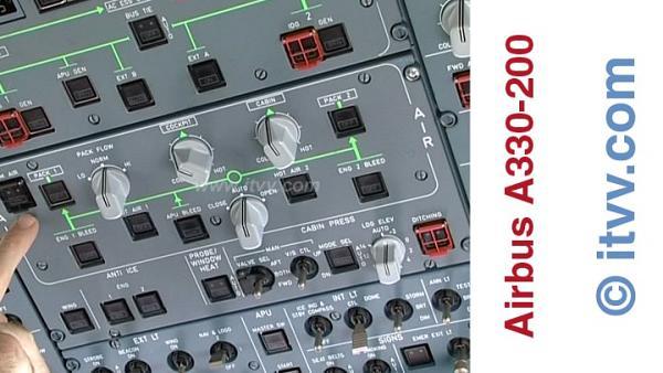 ITVV Airbus A330-200 Overhead Panel Pressurization
