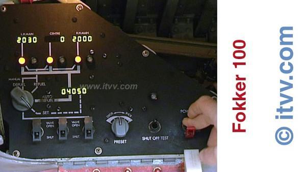 ITVV Fokker 100 External Walkaround Refueling Panel