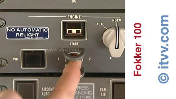 ITVV Fokker 100 Engine 1 Start