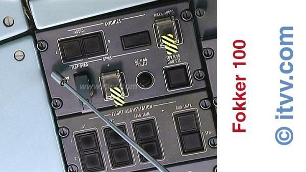 ITVV Fokker 100 Overhead Panel Avionics System