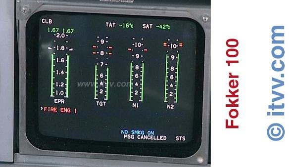 ITVV Fokker 100 Flight Warning System Engine Fire Test