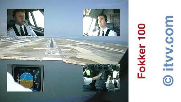 ITVV Fokker 100 Nice Landing 04L