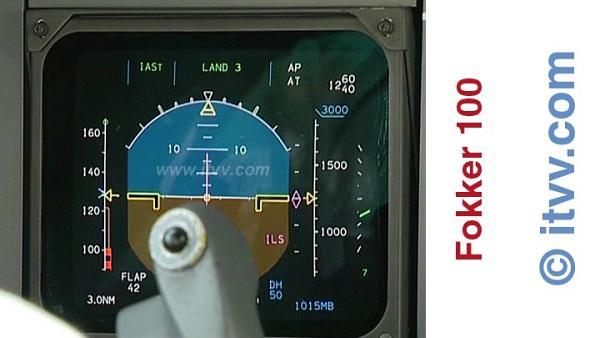 ITVV Fokker 100 Autoland Land CAT III 3 PFD