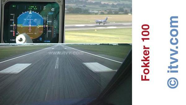 ITVV Fokker 100 East Midlands CAT III Auto Land